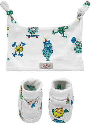 Cath Kidston Mini Monsters Hat And Bootie Gift Set