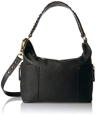 Steve Madden Women's Linda Shoulder Hobo Style Handbag, Black/Mixed Hardware