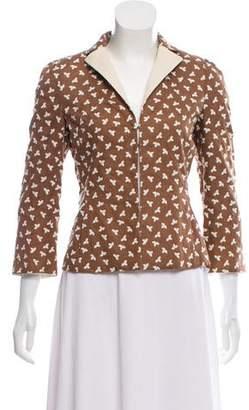 Akris Linen Embroidered Jacket