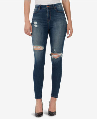 William Rast Ripped High-Rise Skinny Jeans