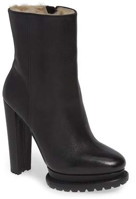 Alice + Olivia Holden Genuine Shearling Bootie