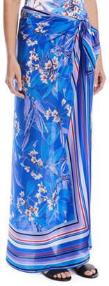Gottex Sakura Floral Silk Coverup Pareo