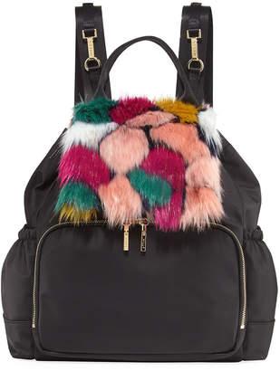 Milly Faux-Fur Diaper Bag Backpack