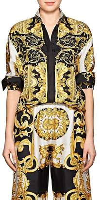 Versace Women's Baroque-Print Twill Blouse