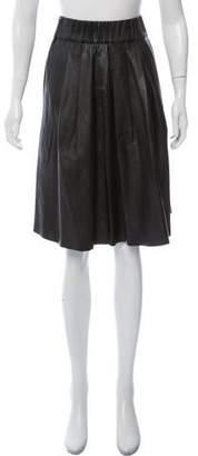 Iris & Ink Pleated Knee-Length Skirt