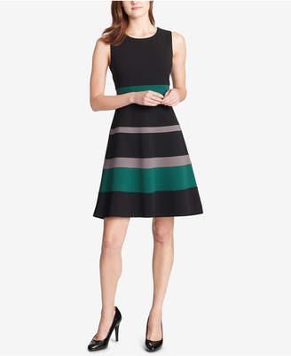 Tommy Hilfiger Colorblocked Fit & Flare Dress