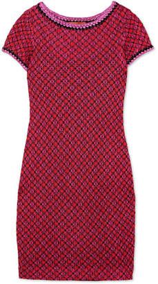 Missoni Metallic Crochet-knit Mini Dress - Pink