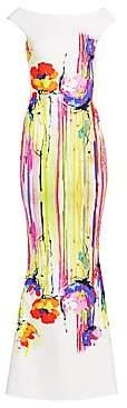 Chiara Boni Women's Purity Jersey Print Sleeveless Mermaid Gown