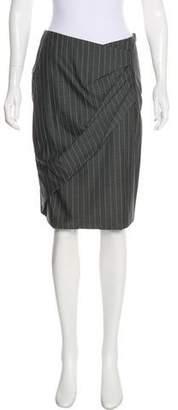 Max Mara Knee-Length Pinstripe Skirt