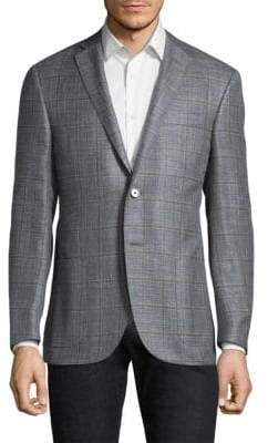 Corneliani Regular-Fit Plaid Wool Jacket