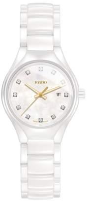 Rado True Diamond Marker Ceramic Bracelet Watch, 30mm