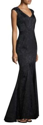 Zac Posen Floral Cap Sleeve Gown $3,290 thestylecure.com