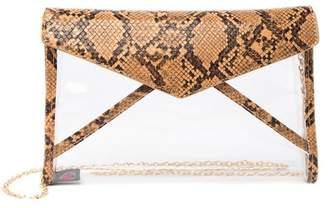 Urban Expressions Kinsley Vegan Snake-Embossed Crossbody Clutch