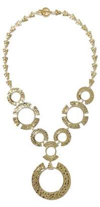 Noir Hammered Gold-tone Necklace
