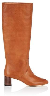 Loeffler Randall Women's Gia Leather Knee Boots - Beige, Tan