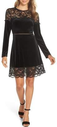 AVEC LES FILLES Velvet & Lace Dress