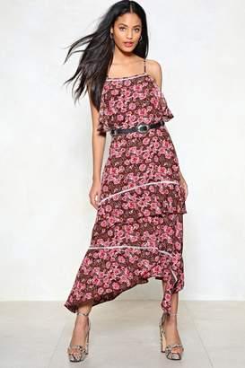 Nasty Gal La Vie En Rose Midi Dress