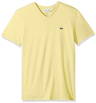 Lacoste Men's Short Sleeve V Neck Pima Jersey T-Shirt