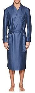 Loro Piana Men's Julien Silk-Cashmere Robe - Blue