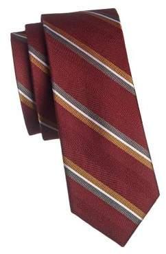 The Tie Bar Striped Wool Silk Slim Tie