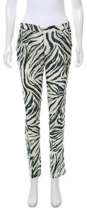 Roseanna Mid-Rise Animal Print Pants
