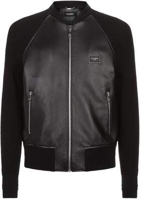 Dolce & Gabbana Contrast Sleeve Bomber Jacket