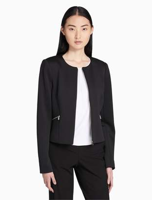 Calvin Klein solid stretch zip jacket