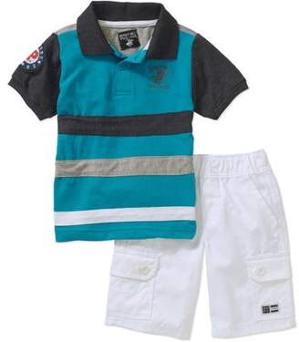 Beverly Hills Polo Club Boys' Polo With Twill Cargo Shorts 2-Piece Set