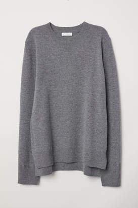 H&M Fine-knit Cashmere Sweater - Gray