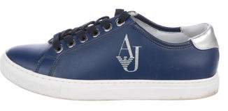 Armani Jeans Leather Low-Top Sneakers