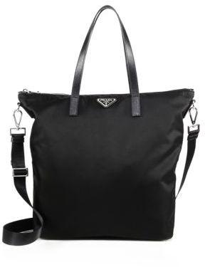 Prada Nylon & Leather Zip Tote $990 thestylecure.com
