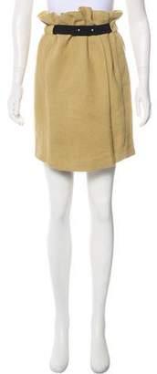 Isabel Marant Knee-Length Linen-Blend Skirt