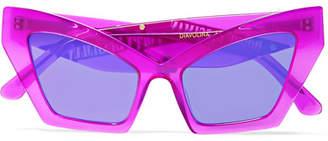 Cat Eye Poppy Lissiman - Diavolina Cat-eye Acetate Sunglasses - Fuchsia