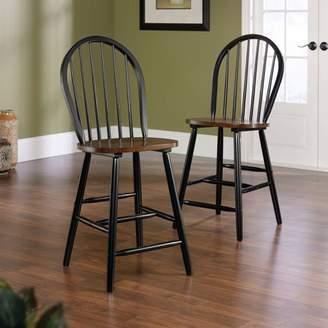 Sauder Edge Water Windsor Chair, Set of 2, Estate Black