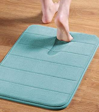 Memory Foam Bath Mats Non-Slip Bathroom Rugs Water Absorbent Fast Dry Soft Comfortable Stylish (Brown