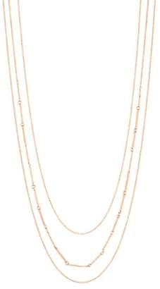 Gorjana Bar Triple Layer Necklace
