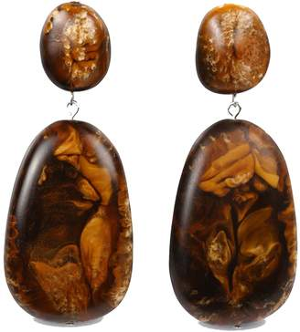 Dinosaur Designs River Rock Drop Brown Earrings