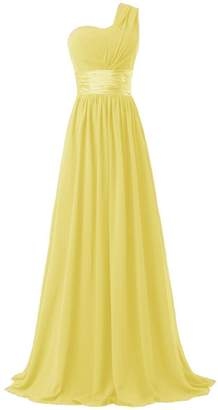 Ouman Women's Chiffon One Shoulder Bridesmaids Dresses