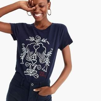"J.Crew ""Love birds"" embroidered T-shirt"