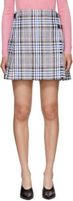 Christopher Kane Multicolor Woven Tartan Kilt Miniskirt