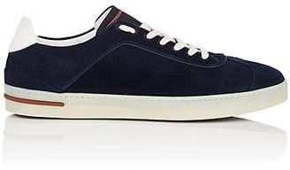 Loro Piana Men's 70's Walk Corduroy Sneakers - Navy