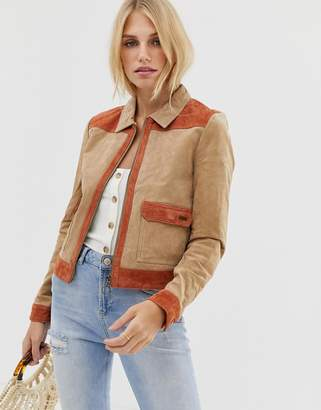 Pepe Jeans Patchie Western Suede Jacket