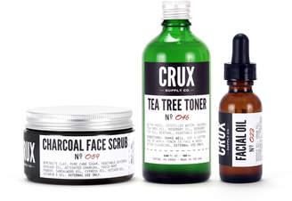 Co Crux Supply Charcoal Scrub, Tea Tree Toner & Facial Oil Set