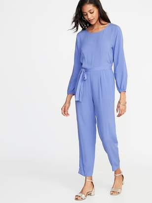 Old Navy Waist-Defined Cross-Back Jumpsuit for Women