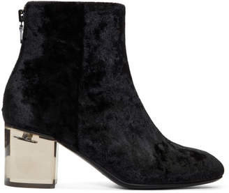 Rag & Bone Black Velvet Drea Boots