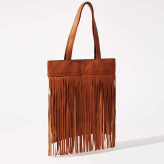 Warehouse Leather Fringe Shopper