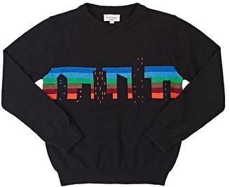 Paul Smith Kids' Skyline-Intarsia Cotton-Wool Sweater