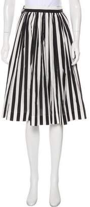 Dolce & Gabbana Striped Knee-Length Skirt