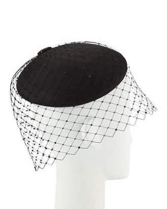 61f30addd63d5 Philip Treacy Straw Beret w  Crystal Studded Widow Veiling