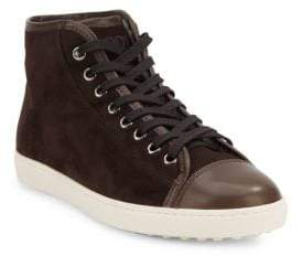 Tod's High-Rise Leather Sneakers